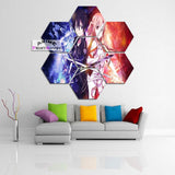 Sword Art Online Canvas Painting Wall Decor | Asuna & Kirito