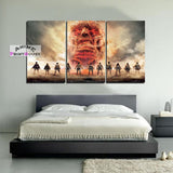 Attack on Titan Canvas , Characters face Titan | 1 to 5 Pieces