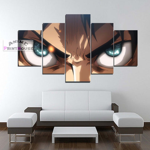 Attack on Titan Canvas Print | Angry Eren
