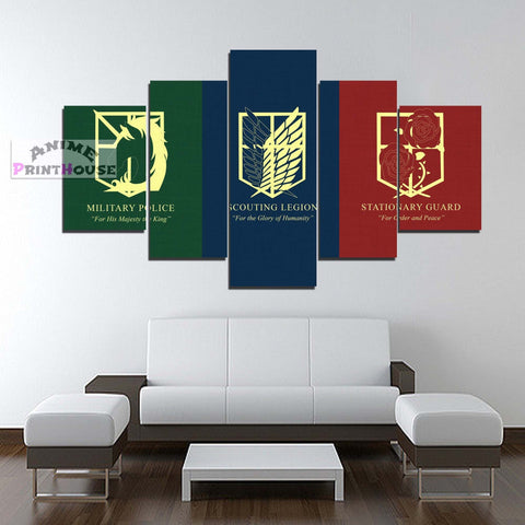 Attack on Titan Canvas Print | Legions Flag