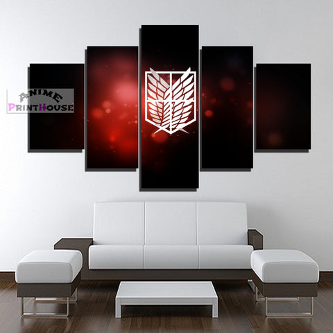 Attack on Titan Canvas Painting, AOT Logo | 1 to 5 Pieces