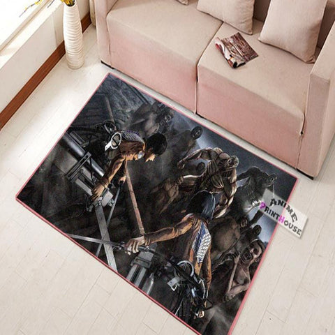 Attack on Titan Carpet | Eren & Mikasa
