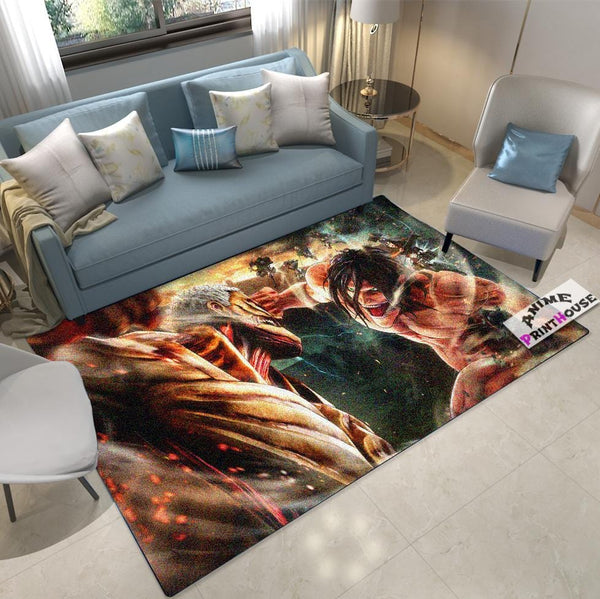 Attack on Titan Rug, Titans Fist Fight Design