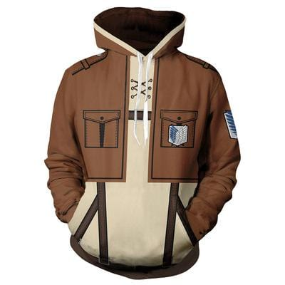 Attack on Titan 3D Hoodie in 4 Designs