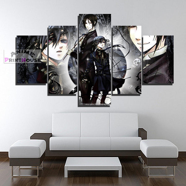 Black Butler Canvas Print, Ciel & Sebastian | 1 to 5 Pieces
