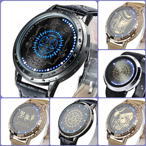 Black Butler (Kuroshitsuji) Waterproof Touchscreen LED Watch