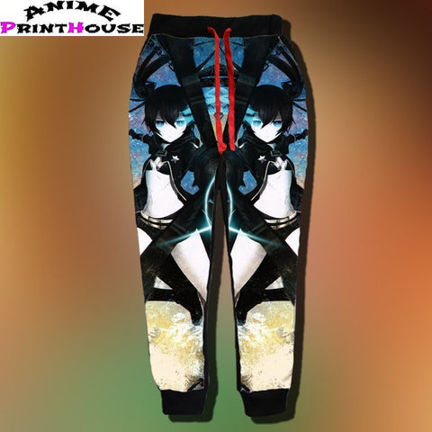 Black Rock Shooter Milk Silk 3D Joggers - Anime Print House