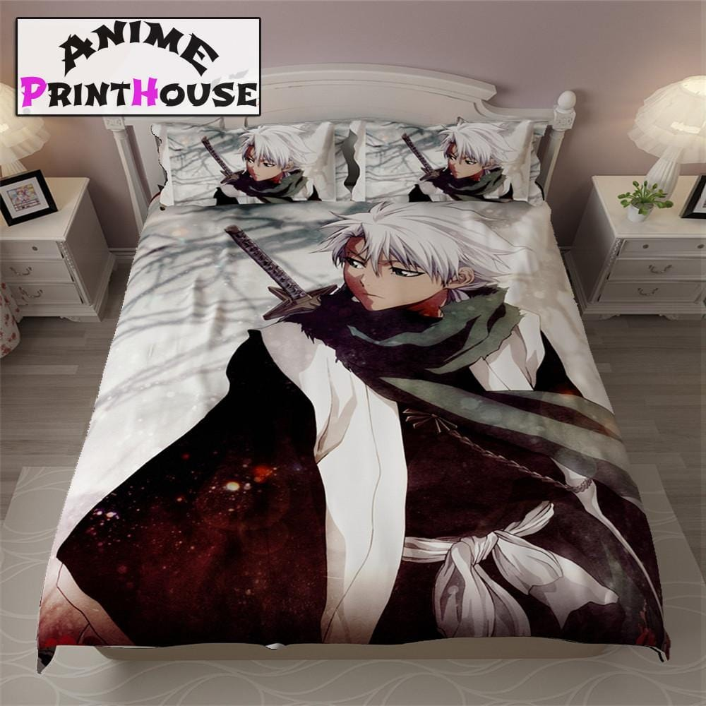 Bleach Bed Set Bleach Bed Sheet Blanket Pillow Case Anime - Quilted-blankets-for-the-bed