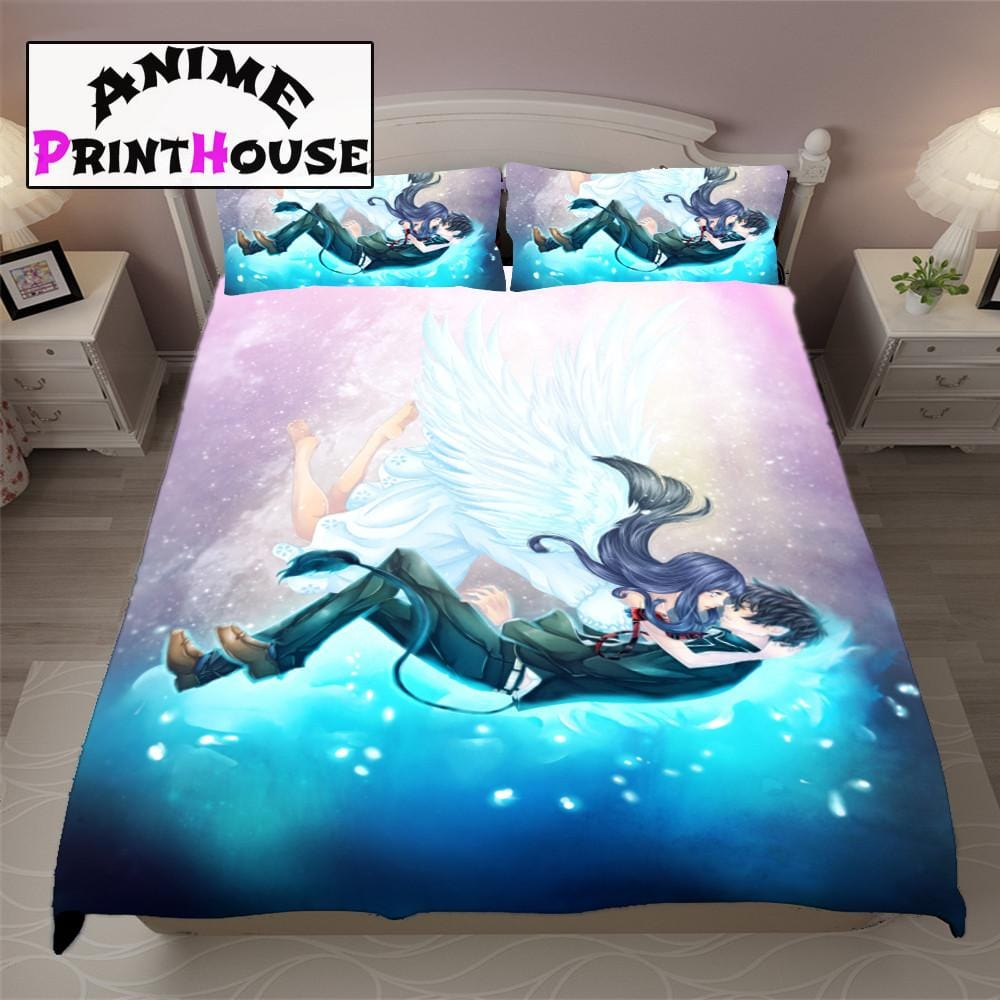 blue exorcist blanket bedding set sheets covers anime print house