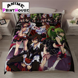 Code Geass Bedding Set, Blanket, Bed Sheets & Pillow | Over 100 Design | 1