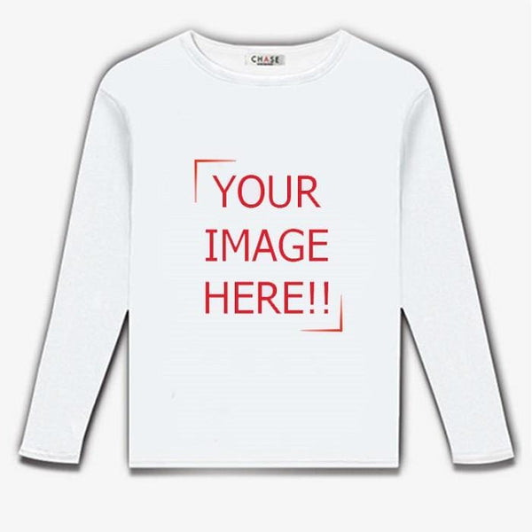 Simple Print Custom Long Sleeve T-Shirt | We Print Your Design