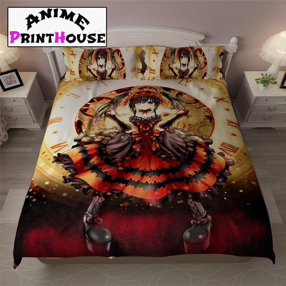 Date A Live Bed Sheets, Blankets U0026 Covers | Kurumi Tokisaki Design U2013 Anime  Print House