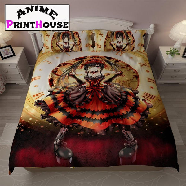 Date a Live Kurumi Tokisaki Bed Sheets, Blankets & Covers