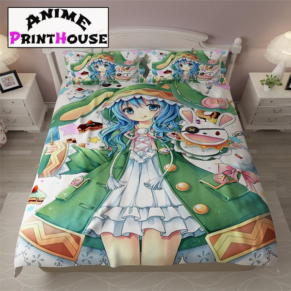 Date a Live Yoshino Bed Sheets, Blankets & Covers 1