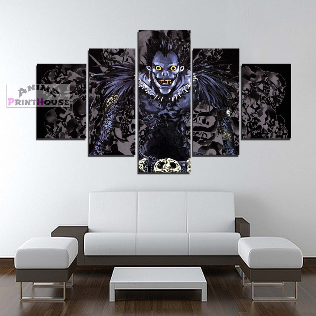 Death Note Canvas Print | Ryuk 1 to 5 Pieces Canvas – Anime Print House