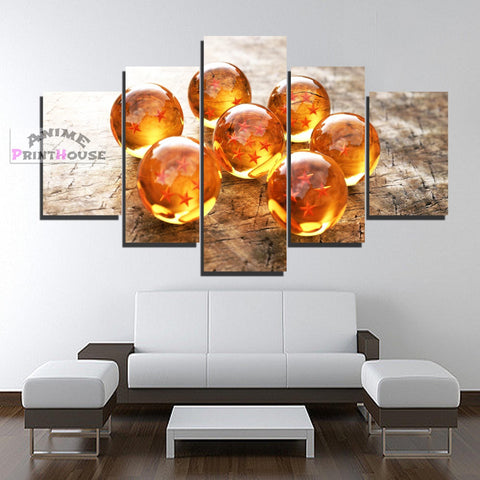 Dragon Ball Canvas Prints, Dragon Balls | 1 to 5 Pieces