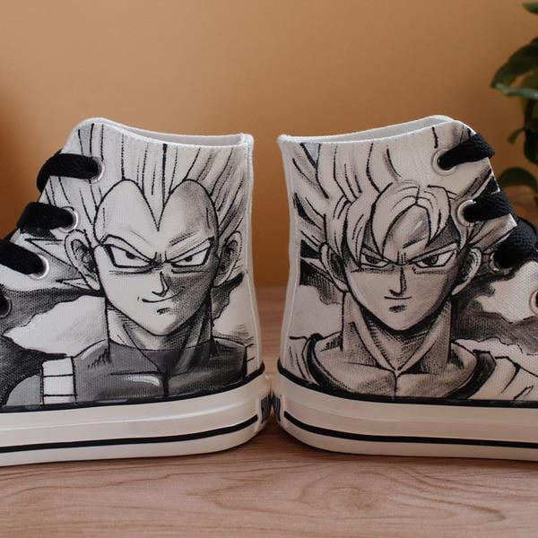 Dragon Ball Canvas Shoes | Hand Painted Anime Shoes