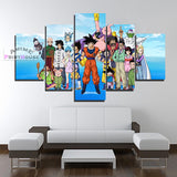 Dragon Ball Super Canvas Prints, All Characters | 1 to 5 Pieces