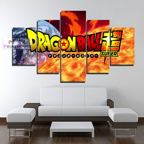 Dragon Ball Super Logo Canvas Prints | 1 to 5 Pieces