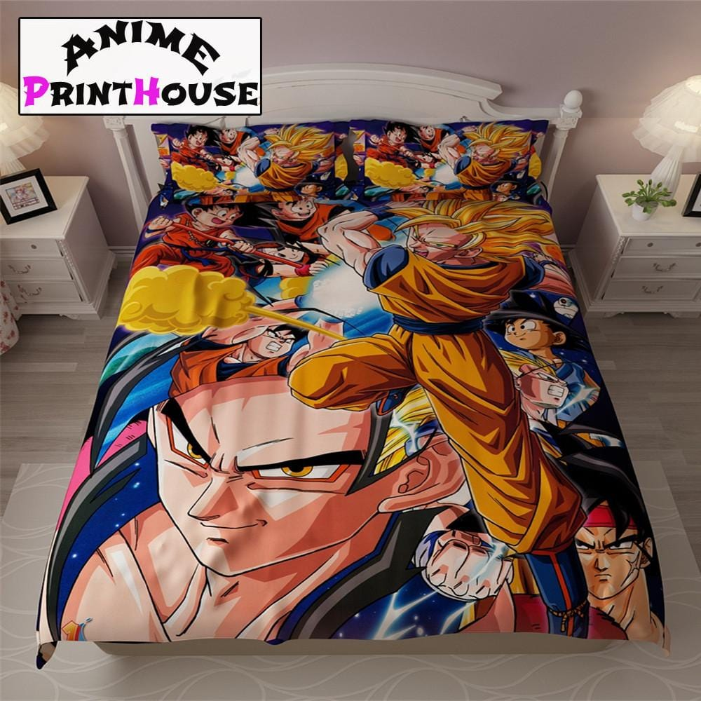 Dragon Ball Bedding Set, Blanket, Bed Sheets U0026 Pillow | Online Store U2013  Anime Print House