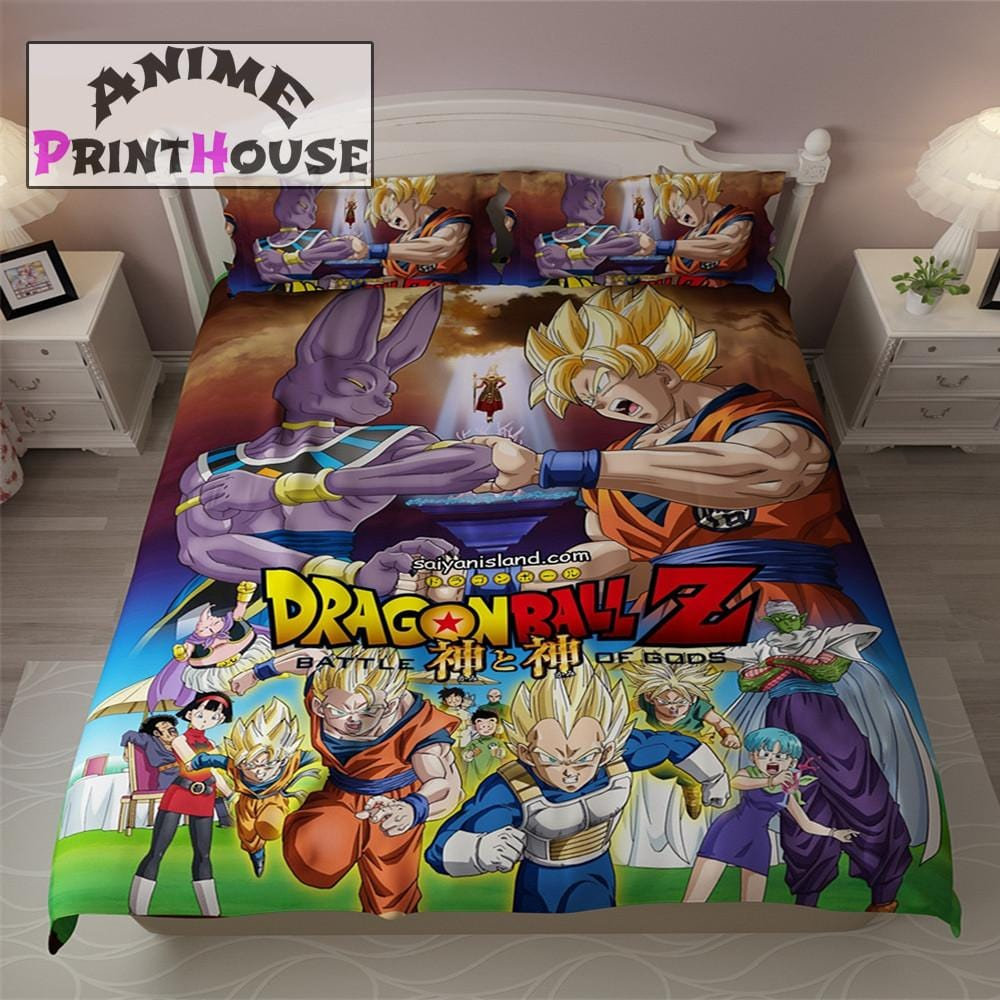 Dragon ball z blanket bed sheets covers anime print house for Dragon ball z bedroom