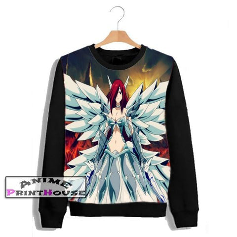 Fairy Tail Erza Scarlet Sweater | Full Color One Side Print - P3