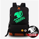 High quality Canvas Fairy Tail Backpack with Glowing Feature