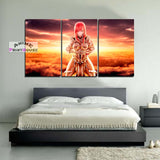 Fairy Tail Canvas Painting Erza Scarlet in Sunset