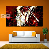 Fairy Tail Canvas Painting Erza Scarlet with Sword