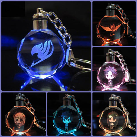 Fairy Tail LED Key chain Collection with Gift Box - Anime Print House