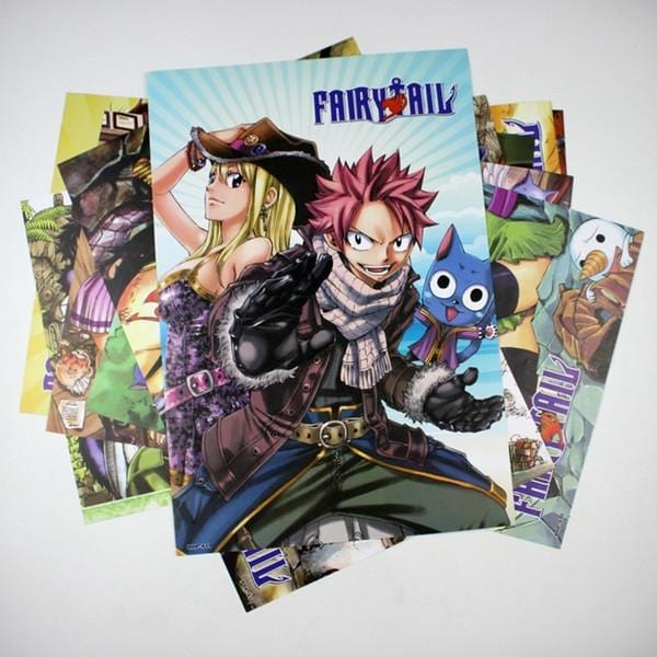 Conditional Free Gift | Fairy Tail Posters | 8 Pieces! - Anime Print House