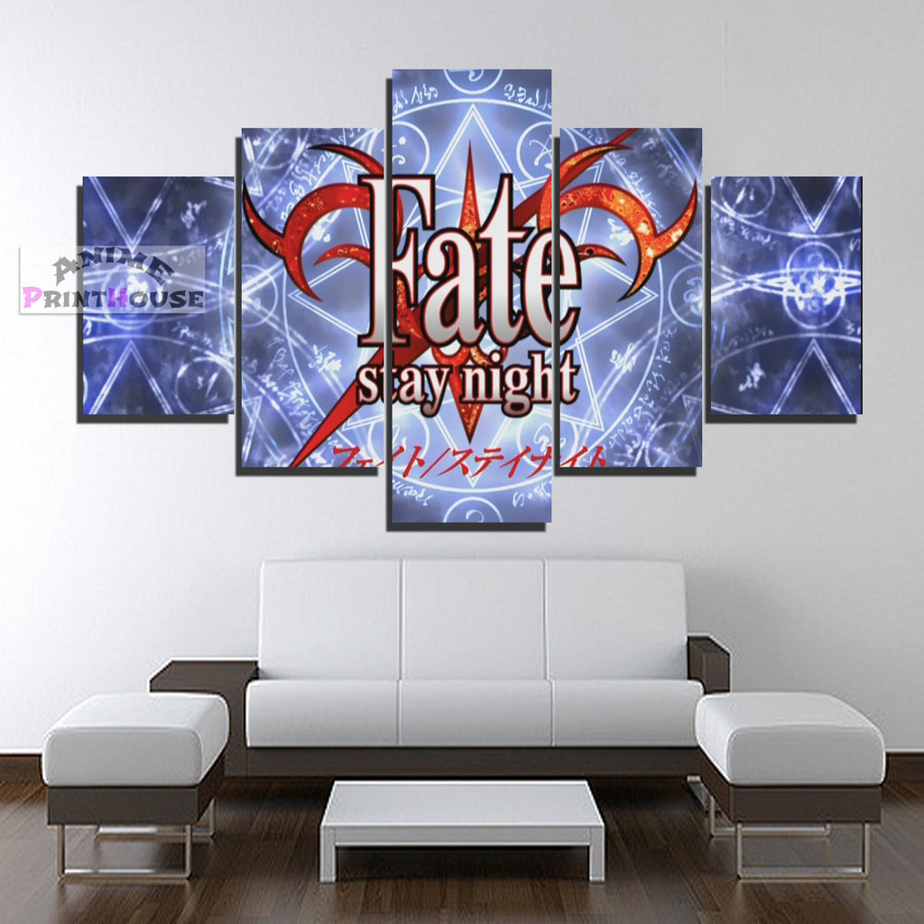 Fate Stay Night Canvas Print Logo Design 1 To 5 Pieces