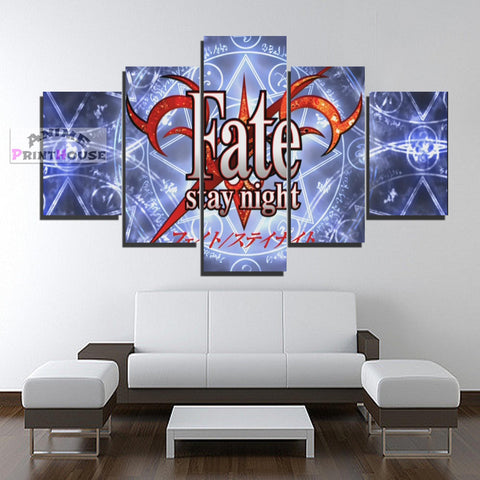Fate Stay Night Canvas Print, Logo Design | 1 to 5 Pieces