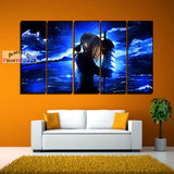 Fate Stay Night Canvas Print - Saber with Sea Background | 1 to 5 Pieces