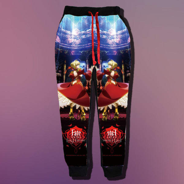 Fate/Stay Night Milk Silk 3D Joggers - Anime Print House