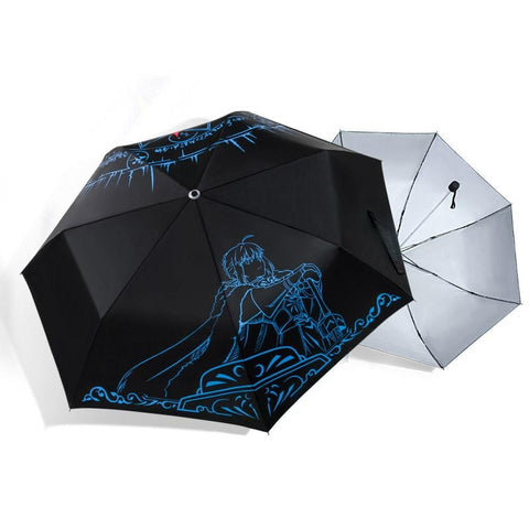 Fate Stay Night Umbrella | Fate Umbrella 5 Reflective Designs