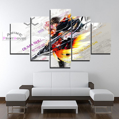 Guilty Crown Canvas Print, Inori & Shu Design | 1 to 5 Pieces