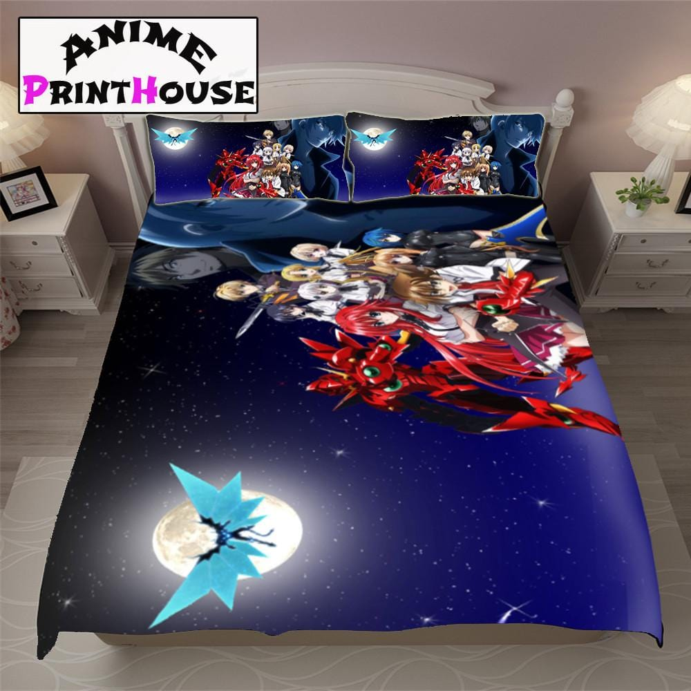 high school dxd bed set sheets blanket covers anime print house