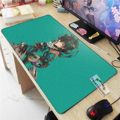 My Hero Academia Mouse Pad, Izuku in Green Background