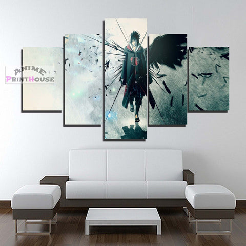 Naruto 5 Piece Canvas featuring Sasuke