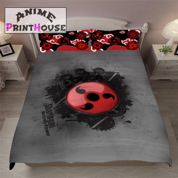 Naruto Blanket & Bedding Set with Sharingan Theme