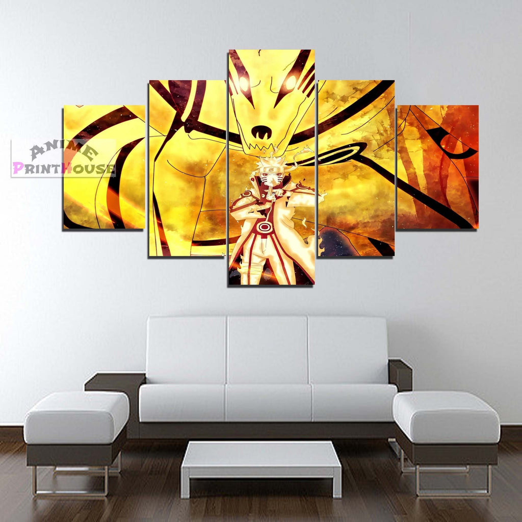 Naruto Canvas Painting Naruto Bijuu Mode – Anime Print House