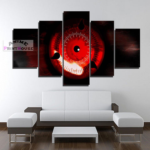 Naruto Canvas Painting, Sharingan Design