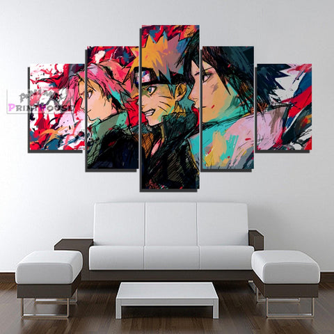 Naruto Canvas Prints, Sasuke, Naruto, Sakura  | 1 to 7 Pieces Anime Canvas