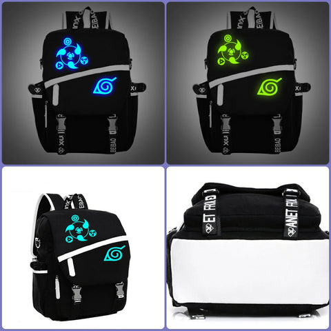 Naruto Backpack | High quality nigh glowing large backpack