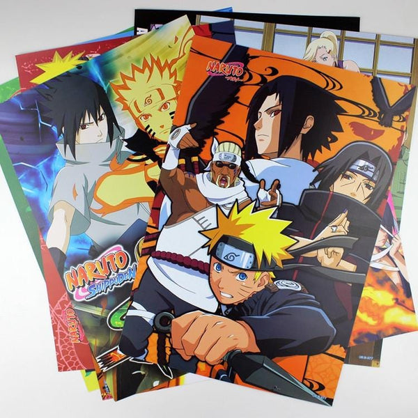 Conditional Free Gift | Naruto Posters | 8 Pieces! - Anime Print House
