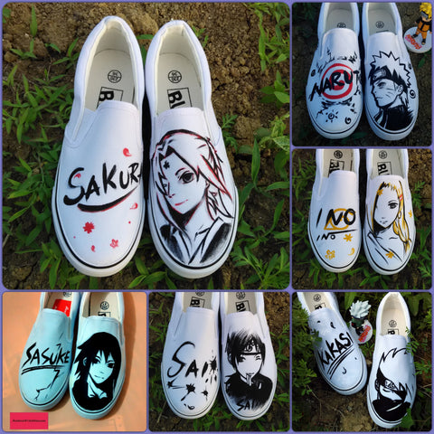 Naruto Flat Canvas Shoes - Anime Print House