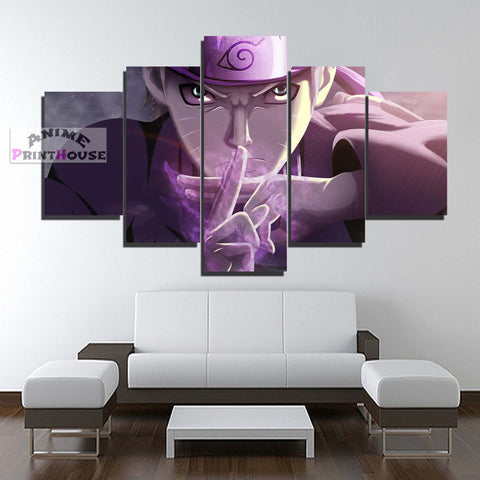 Naruto Jutsu Mode 5 Piece Canvas