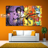 Naruto vs Sasuke Canvas Painting Wall Decor