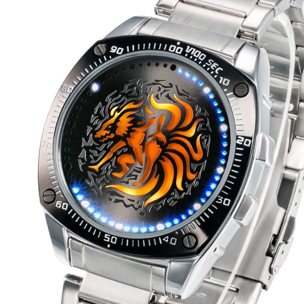 New Naruto LED Watch with Metalic Bands & Rotating Ring